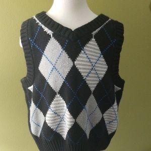 2t Black/ Gray Sweater Vest